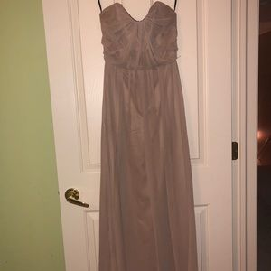 Full Length Strapless Dress w/ Belt